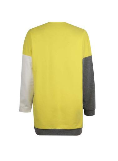 Mizalle Youth Parça Detaylı Sweatshirt Renkli